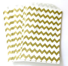 Gold Chevron Party, Wedding Favours, Loot Bags, Gifts, Birthday Celebrate 26pk