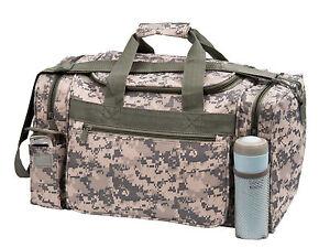 "18""Tactical Military Duffel Digital Camo Gun Ammo Range Gear Bag ACU Army Duffle"