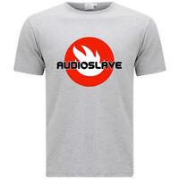 New Audioslave Alternative Rock Band Logo Men's Grey T-Shirt Size S-3XL
