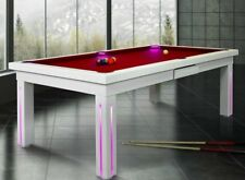 7' VISION CONVERTIBLE MODERN POOL BILLIARD TABLE dining/office fusion - NEW YORK