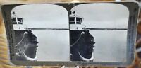Antique Stereograph Card - The harbor at Cristobal, Panama Canal c.1907