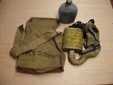 Wwi U.S. Army Gas Mask With Canvas Carry Bag and Canteen