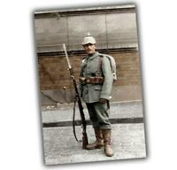 War Photo active military uniform of the German army soldiers WW1 4x6 V