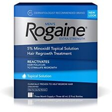 ROGAINE MEN'S 5% Minoxidil Topical Solution Hair Regrowth Treatment 3 months