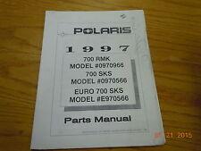 POLARIS 1997 700 RMK, 700 SKS, 700 EURO SKS PARTS MANUAL