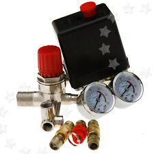 175PSI Air Compressor Pressure Switch Control Valve Manifold Regulator Gauges