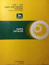 John Deere 110 112 s/n# 100,000-250,000 Lawn Garden Tractor Parts Manual PC-1081