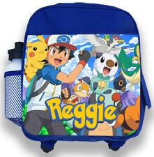Personalised Kids Blue Backpack Any Name Pokemon Boys Childrens School Bag 2