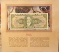 Most Treasured Banknotes Brazil 1962 10 Cruzeiros UNC P-177a serie 2418A