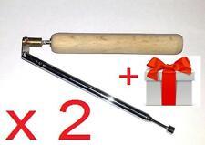 G2 Stück DOWSING Rod PORTATIV Winkelruten Wünschelrute Radiästhesie 4Teilen+gift