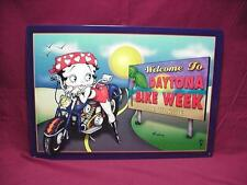 Betty Boop Tin Sign Welcome To Daytona Bike Week Design