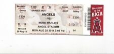 2014 LOS ANGELES ANGELS VS MIAMI MARLINS TICKET STUB 8/25 GIANCARLO STANTON HR