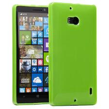 Microsoft Nokia Lumia 930 Hülle Tasche Case Schutz Etui Back Cover Grün Glow
