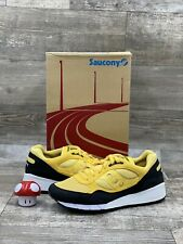 SAUCONY SHADOW 6000 BLACK WHITE YELLOW CASUAL MENS size 10.5