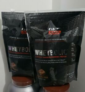 GNC AMP - 2X WHEYBOLIC - CHOCOLATE FUDGE - FREE SHIPPING