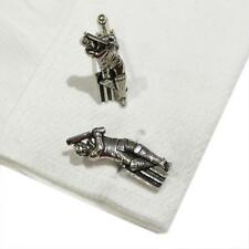 Quality Cufflinks Handmade in England Silver Pewter Cricket Batsman High