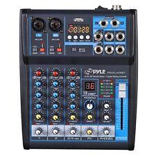 Pyle PMXU43BT Bluetooth Studio Mixer Audio Component Receiver Black