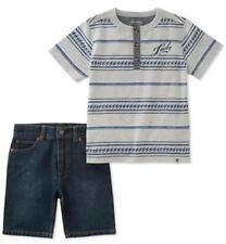 Conjuntos de ropa de niño de 0 a 24 meses de manga corta grises