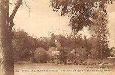 CHATILLON-SUR-SEINE CARTE POSTALE RUINES CHATEAU DES DUCS 1926