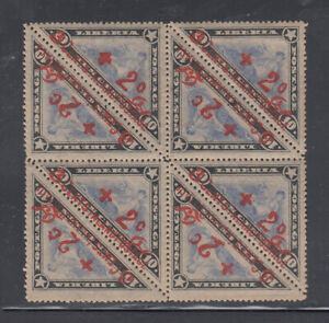 Liberia # B MNH/Mint Block of Eight  1915 Issue Triangle Signed