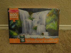 New Melissa & Doug Woodland Waterfall 200 piece jigsaw puzzle