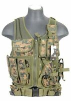Lancer Tactical Adjustable Cross Draw Vest - Digital Woodland ( Marpat Camo )