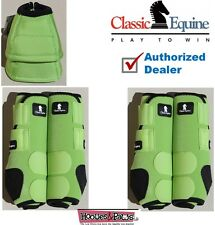 Large Lime Green Classic Equine Front Rear Legacy Horse Leg No Turn Bell Boots