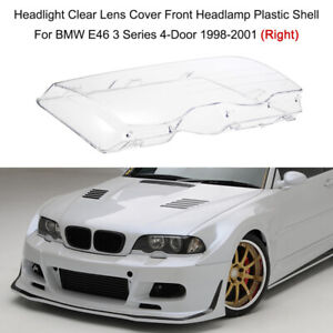 Right Headlight Headlamp Plastic Clear Lens Cover For BMW E46 3 Series 1998-2001