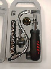 RATCHETING SCREWDRIVER KIT, 22pc Flex shaft - driver bits hand tool