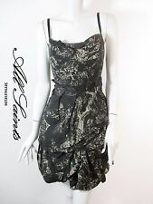 STUNNING WOMENS ALL SAINTS SORA PIRRO VICTORIAN PRINT BUSTLE CORSET DRESS 10 VGC