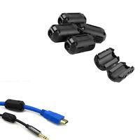 Clip On EMI RFI Noise Suppressor 5mm Cable Ferrite Core Filters 5Pcs/lot Black