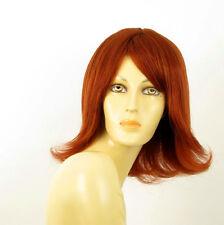 perruque femme 100% cheveux naturel longue cuivré intense ref CORALIE 130