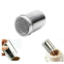 Stainless Chocolate Dredge Icing Shaker Sugar Salt Coffee Cocoa Flour Sifter Lid