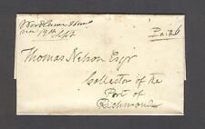 """Woodlawn Hanover 12th Sept"" VA 1820/30s to Thomas Nelson, Esq. Port of Richmond"