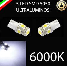 COPPIA LUCI STRUMENTI DI BORDO T10 5 LED 5050 W5W ULTRALUMINOSI 6000K