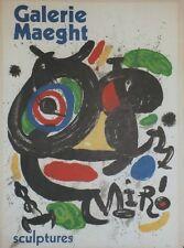 """""""MIRO: SCULPTURES / EXPO GALERIE MAEGHT 1970"""" Affiche originale entoilée"""