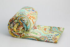 Indian Handmade Kantha Quilt Throw Reversible Bedspread Vintage Cotton Paisley