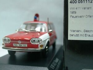 WOW EXTREMELY RARE VW Type 4 411 LE Variant 1969 Offenburg Fire 1:43 Minichamps