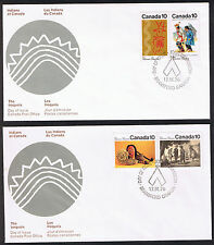 Set of 2 Canada First Day Covers - Indians of Canada 1976 Stamps sg729/30 739/40