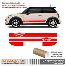 Mini Cooper Racing Side Stripes Graphics Decals