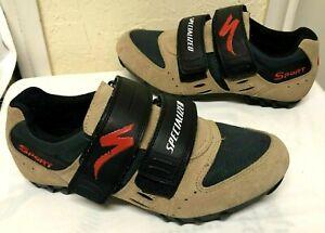 Specialized Sport 610-1239 Cycling Shoes Men's Size: 7/39 Tan Beige Green Black