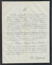 Faire-part décès Giovanni Andrea de' SANGRO, Principe de FONDI Napoli 1804-1871