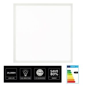 40W LED Panel Light Recessed Celling Cool White 6500K 595mm x 595mm