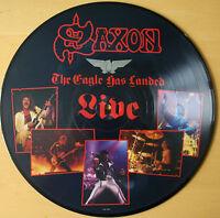 EX/EX SAXON: THE EAGLE HAS LANDED LIVE VINYL LP PIC PICTURE DISC CAL 137