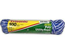 2X Poly Utility Rope 100 Ft 1/4 Inch Diameter Fishing Camping Boating Home
