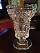 "Cut Glass Vase Diamond Cut and Panels 8 1/2"" Good Condition"