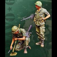 1/35 Resin Figure Model Kit Vietnam War US Soldiers Unpainted Unassambled