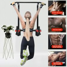 Gym Wall Mount Pull Up Chin Up Bar Exercise Equipment Upper Body Home Workout Us