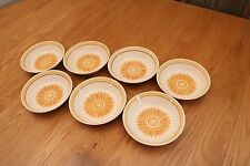 7 Vintage Bowls Royal Ironstone By Royal China Yellow and Orange Unique Rare