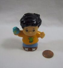 NEW Fisher Price Little People BLACK-HAIRED BOY w/ DINO SHIRT Circus Park Rare